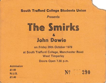 ticket stub from South Trafford